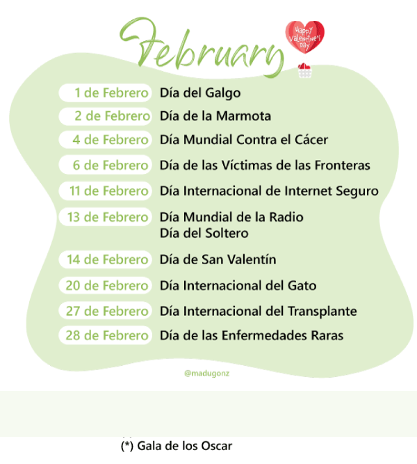 Febrero 2019 Calendario.Calendario Del Community Manager 2019 Plantilla Pdf Gratis